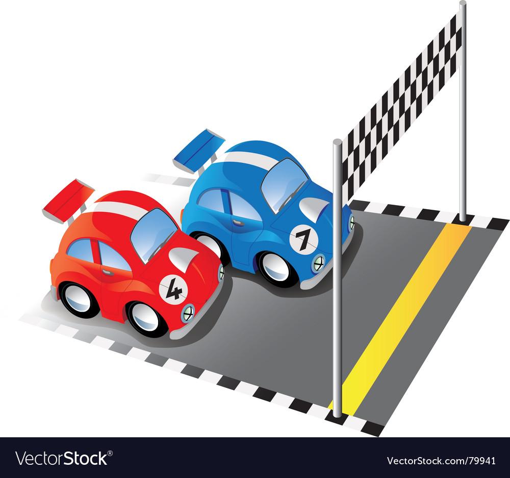 cartoon racing cars royalty free vector image vectorstock rh vectorstock com Old Race Car Clip Art Cute Race Car Clip Art