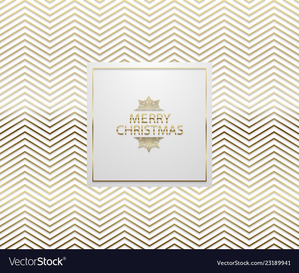Christmas background with shining golden zigzag
