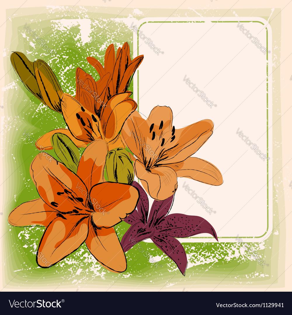 Floral frame eps 10