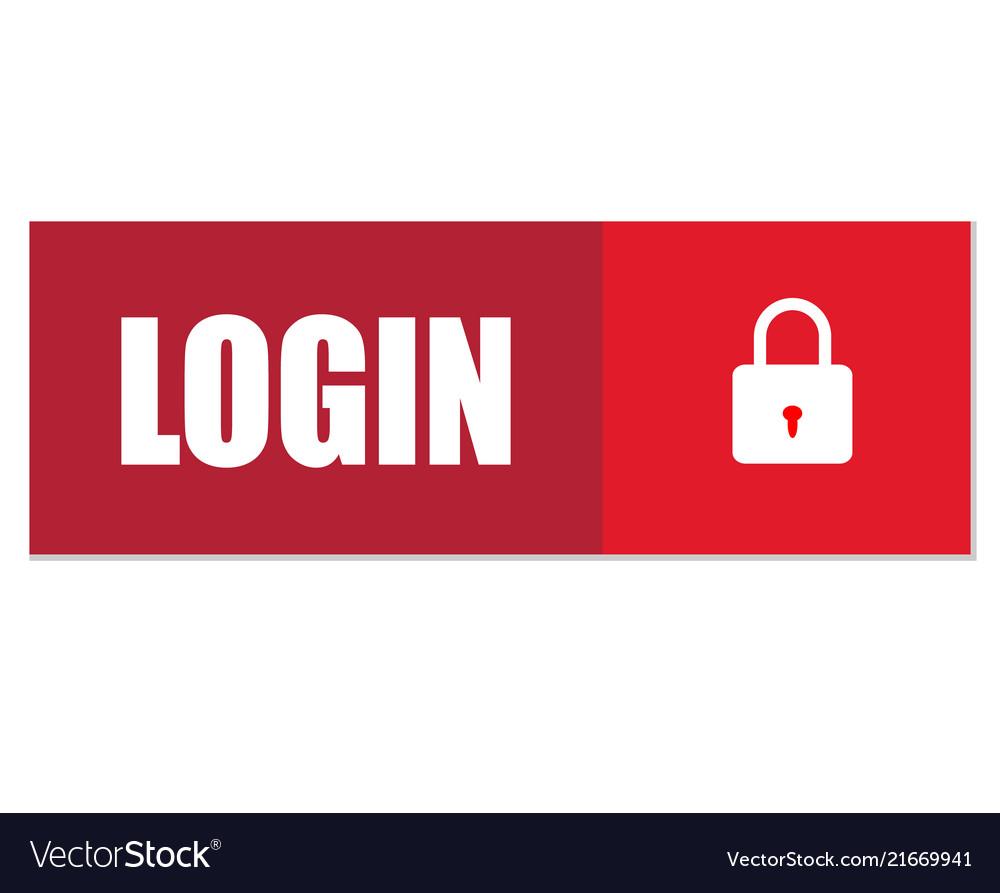 Login button login icon on white background flat