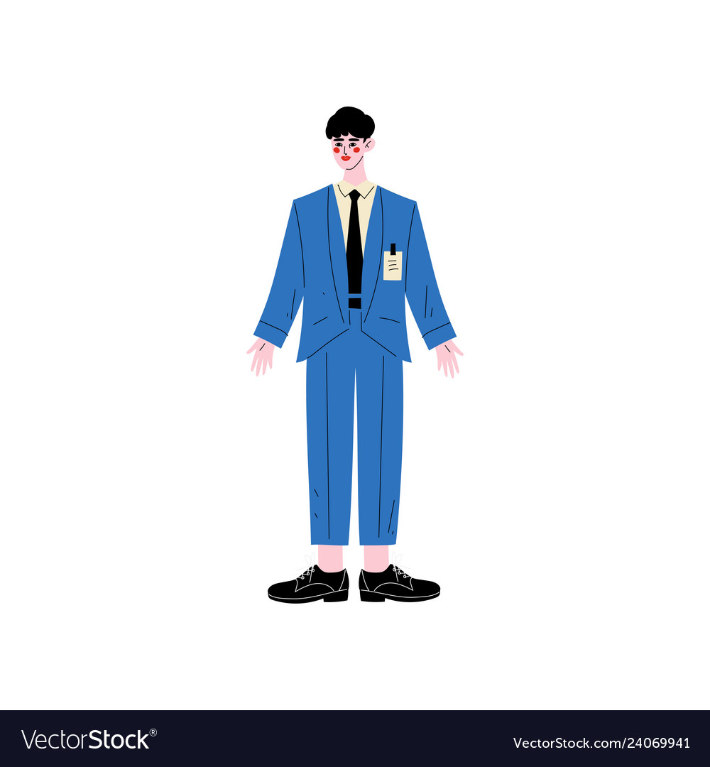Male hotel manager or administrator hotel staff