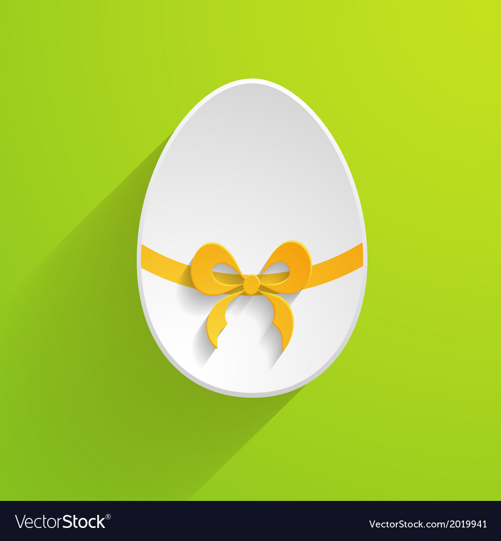 Paper Easter egg vector image