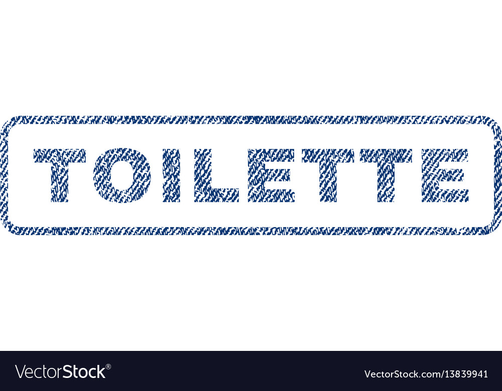 Toilette textile stamp vector image
