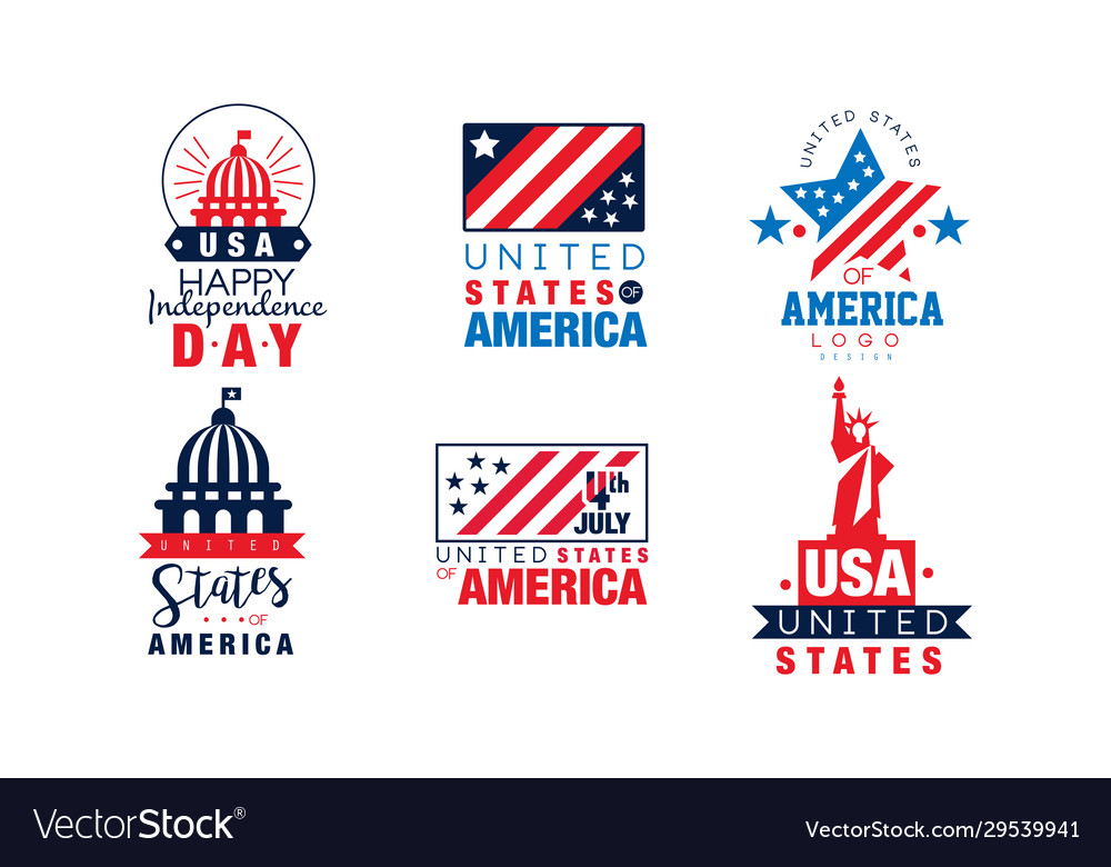 United states america logo design collection