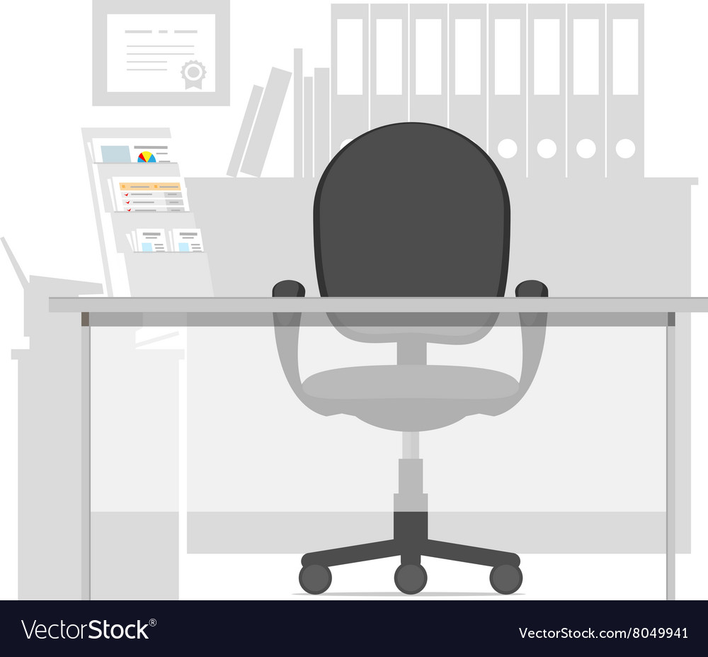 Workspace for a manager in office interior