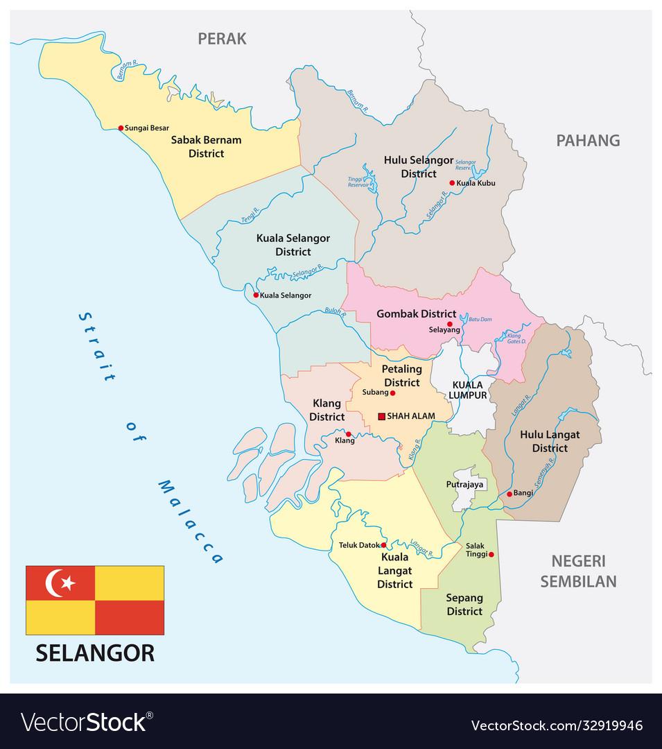 Administrative map selangor malaysia