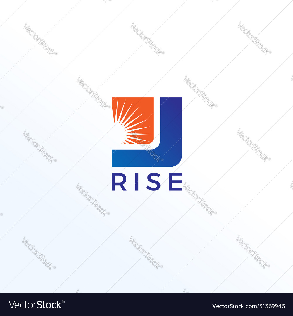Business rise logo design template