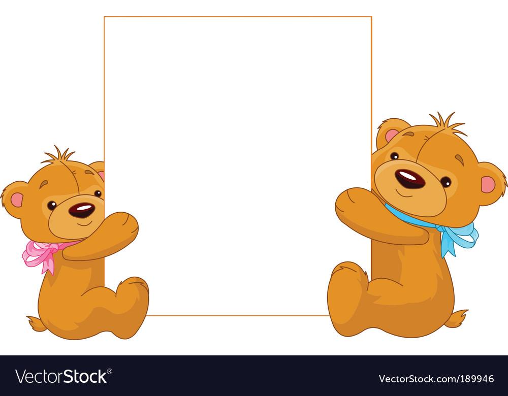 Cartoon Teddy Bears Royalty Free Vector Image Vectorstock
