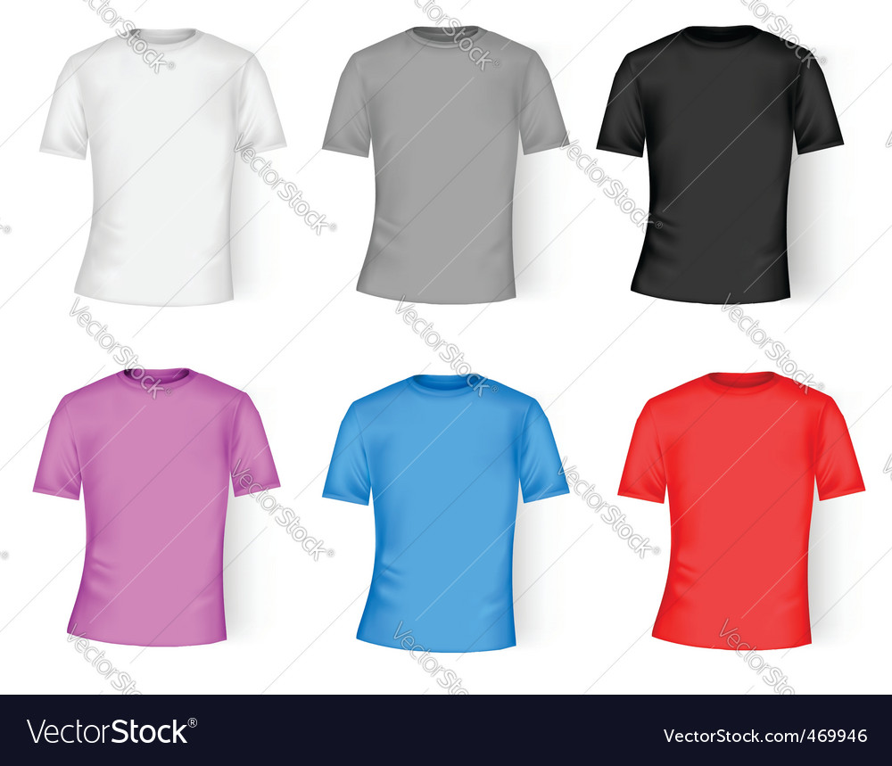 99768f1b Color and white t-shirt design Royalty Free Vector Image