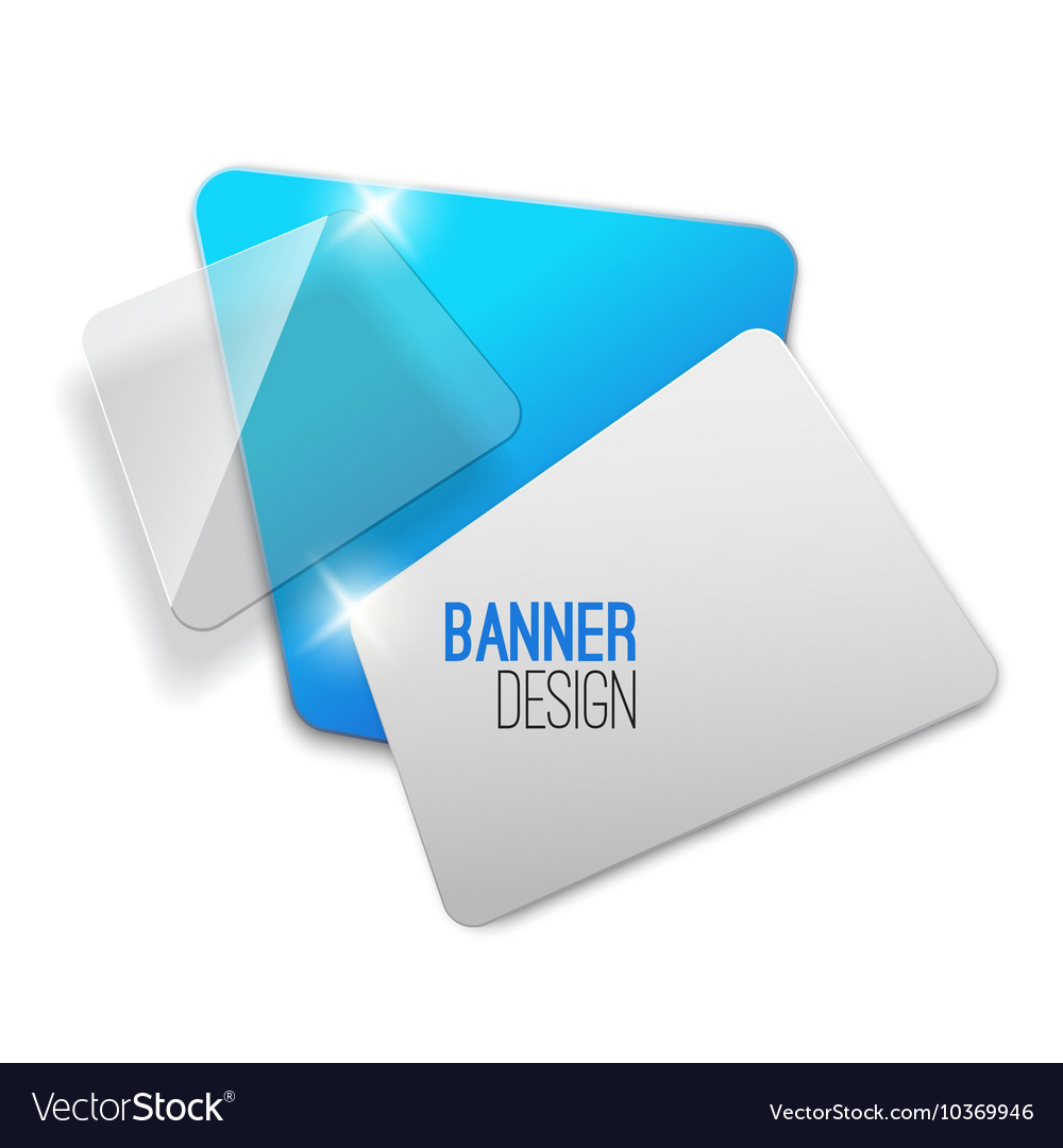 Creative realistic abstract transparent banner