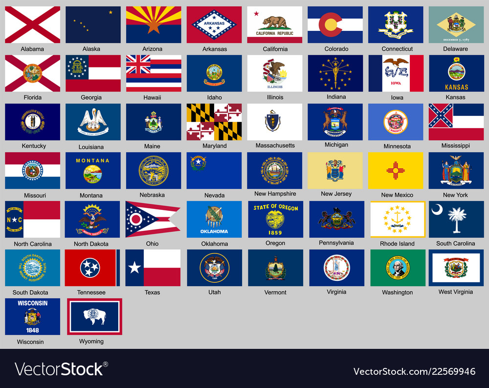 Different countries flags set