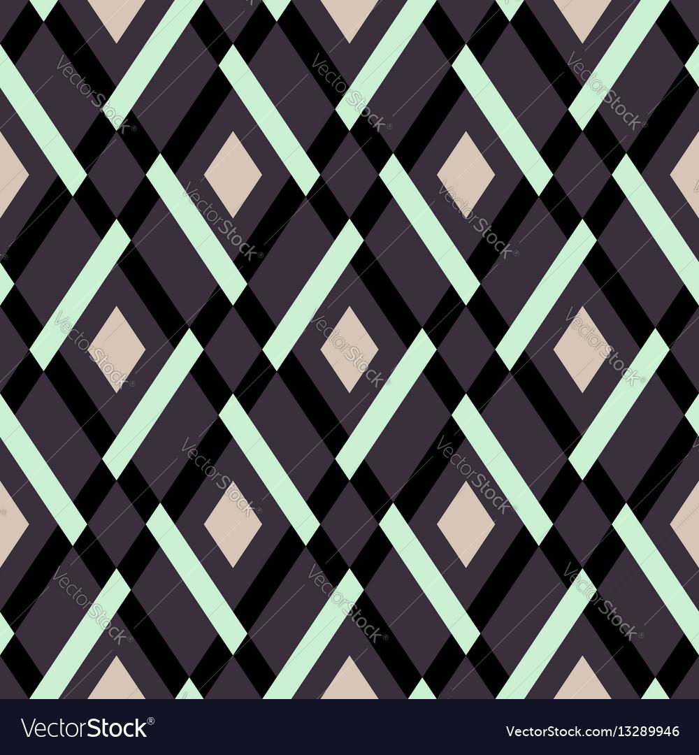 Geometric seamless argyle pattern vector image