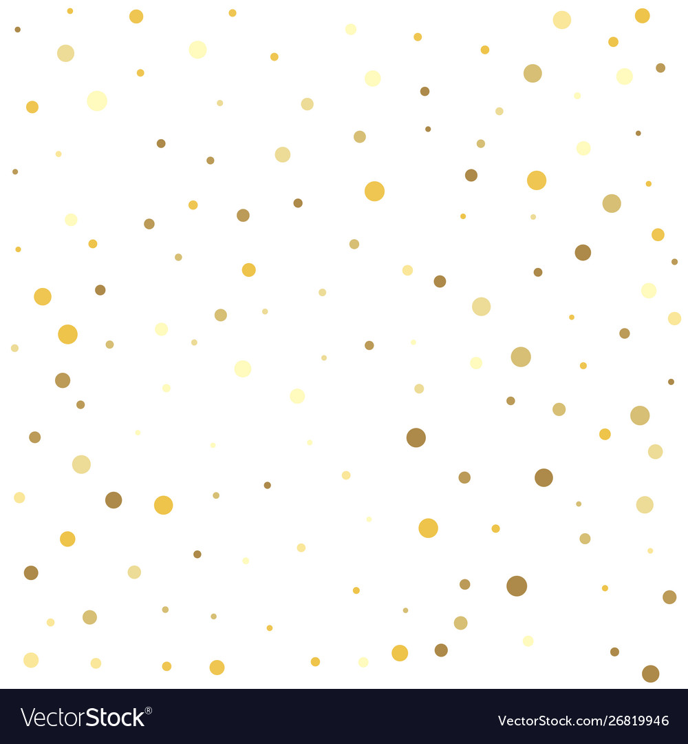 Gold dots on a white background texture gold