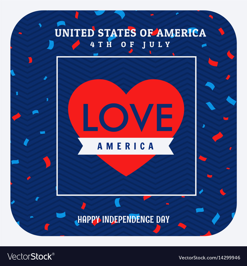 Love america celebration background