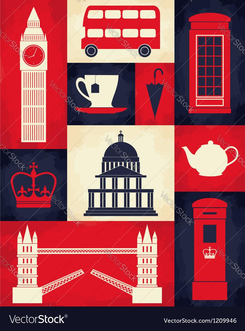 Retro London Poster vector image