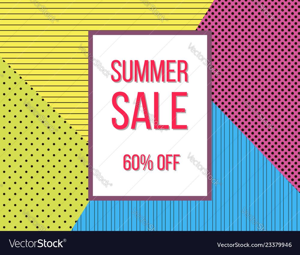 Summer sale poster design template