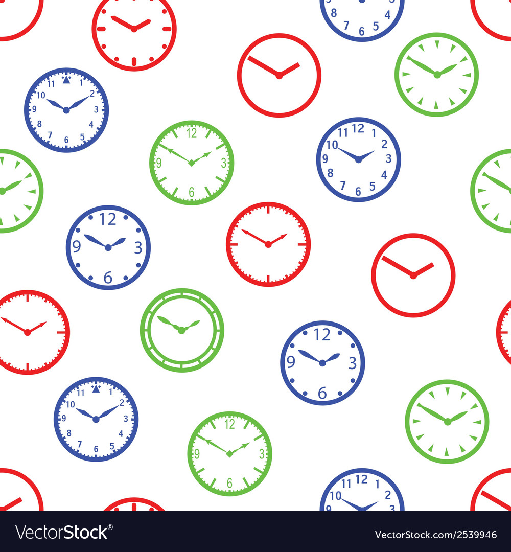 Watch dial simple color seamless pattern eps10