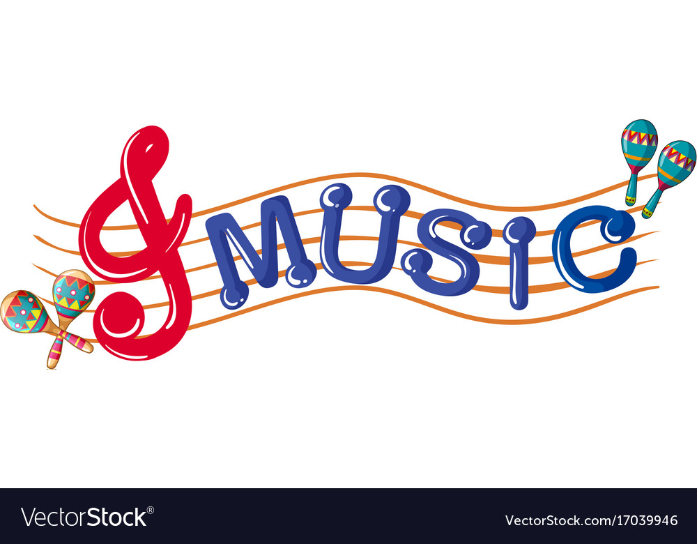 word music with music notes in background vector image