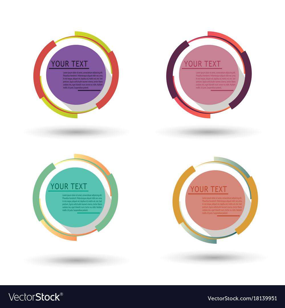 Circle badge label design logo vintage round