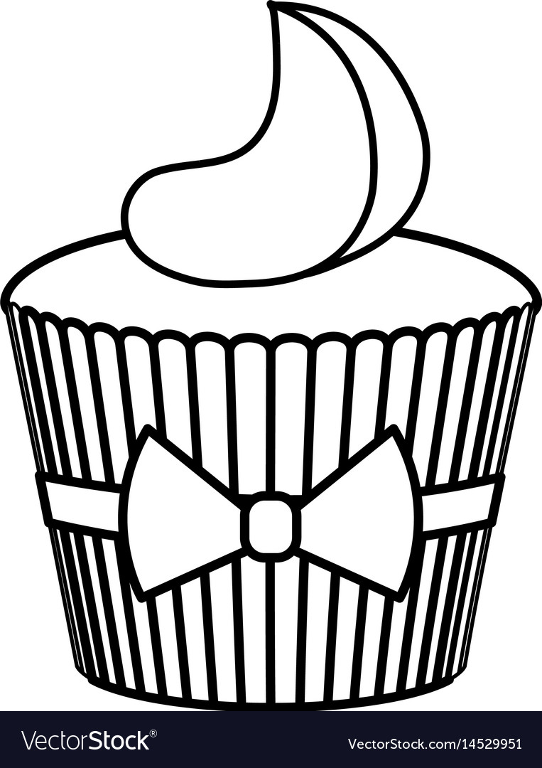 Delicious and sweet cupcake icon