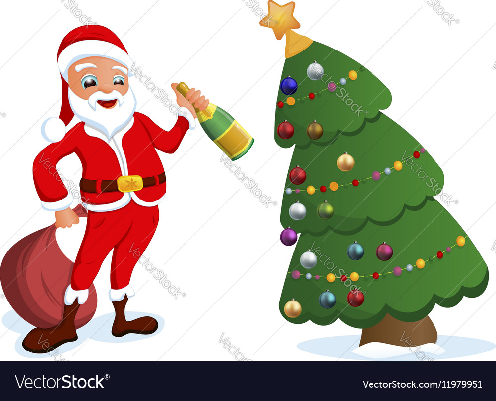 Greeting Cards Merry Christmas with Santa