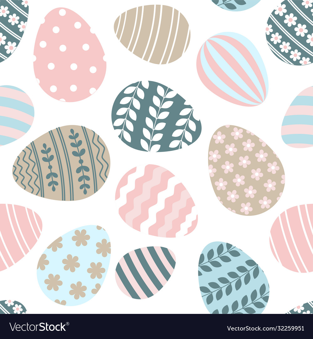Happy easter greeting seamless pattern