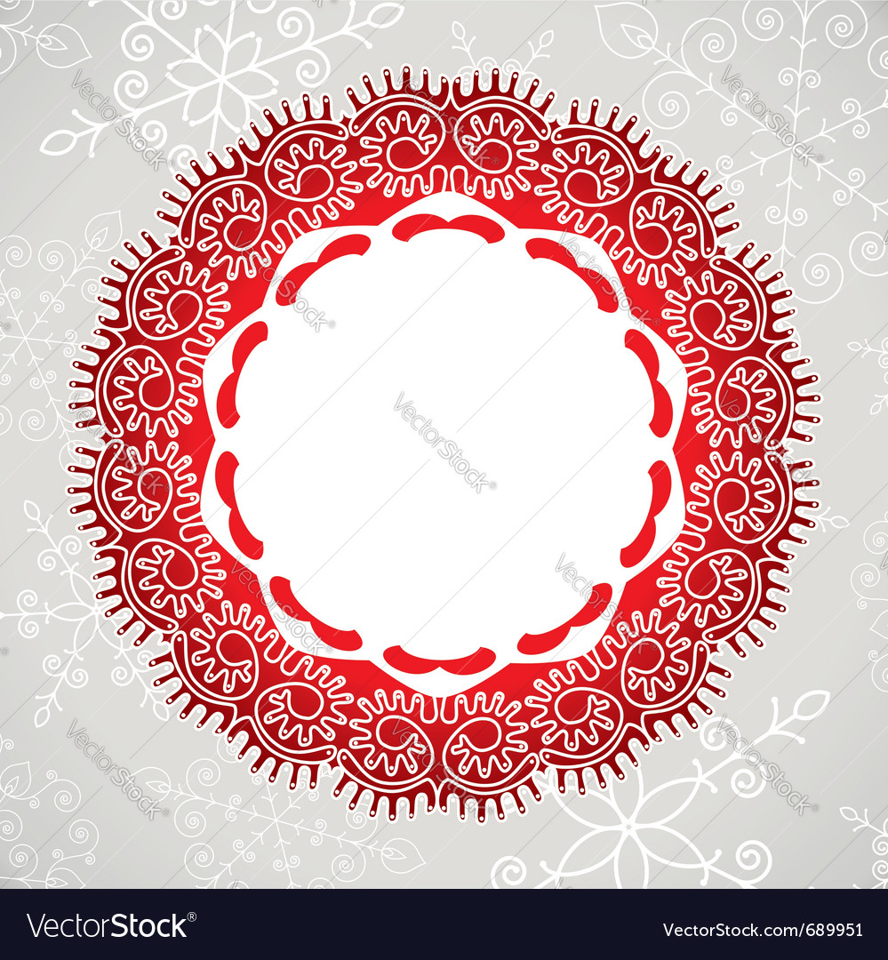 Lace and snowflakes