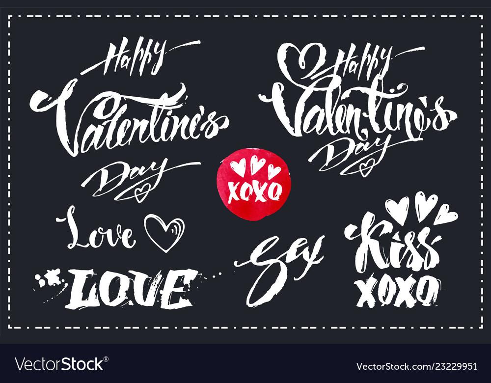 Lettering set for valentines day design