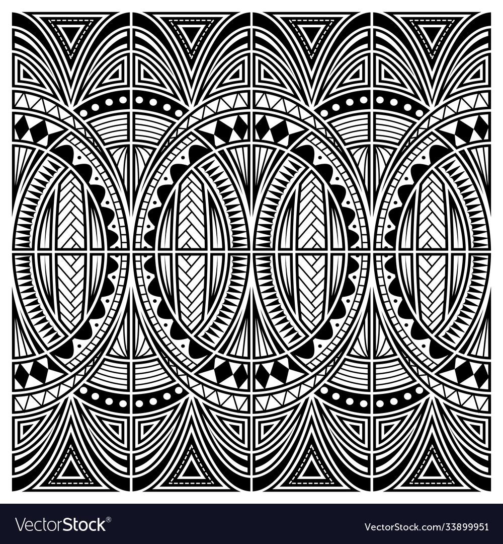 Maori style tattoo ornament