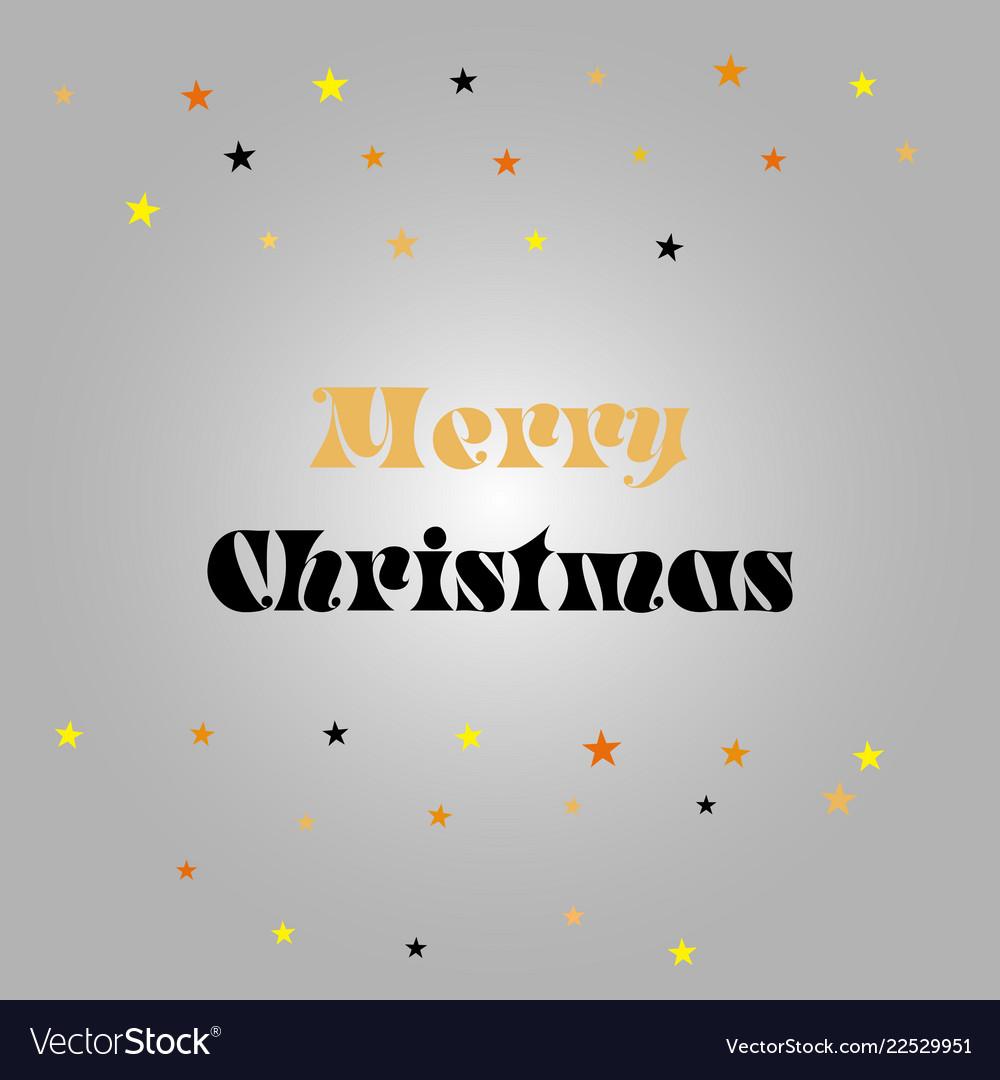Merry christmas gift poster gold glittering