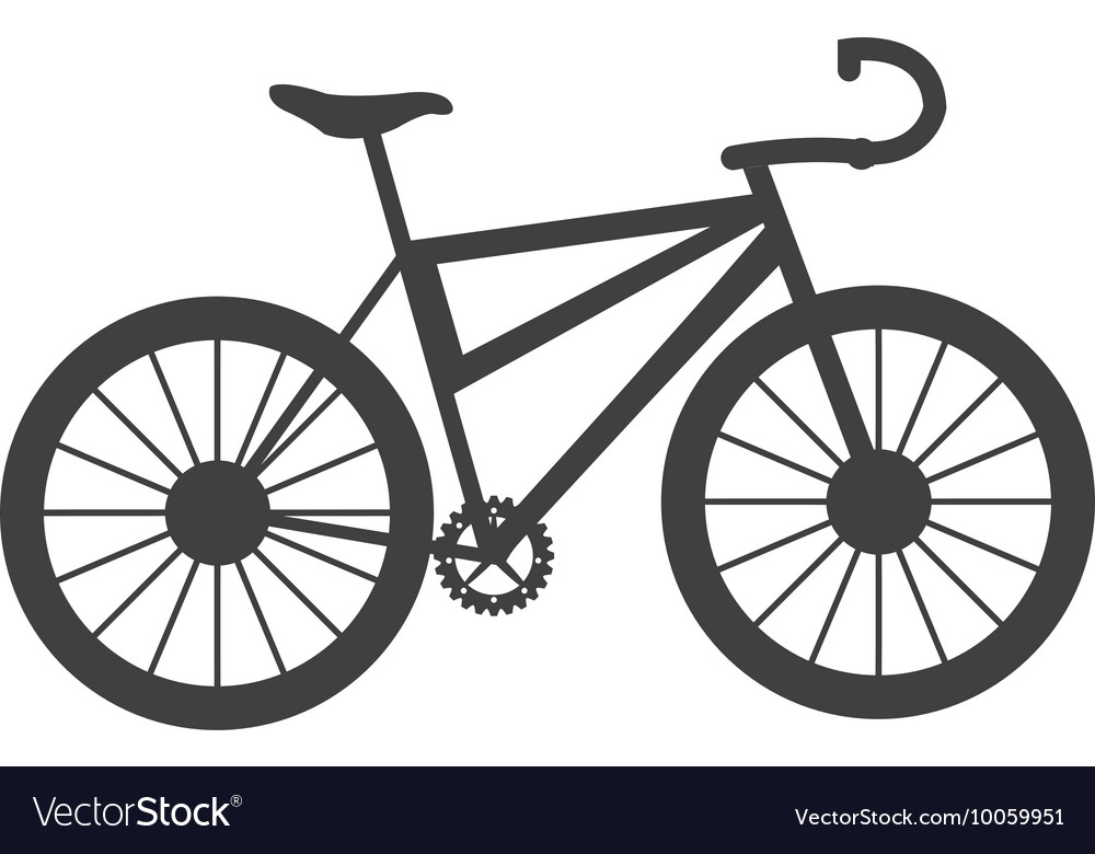 single bike icon royalty free vector image vectorstock rh vectorstock com vector bike vector bike rack