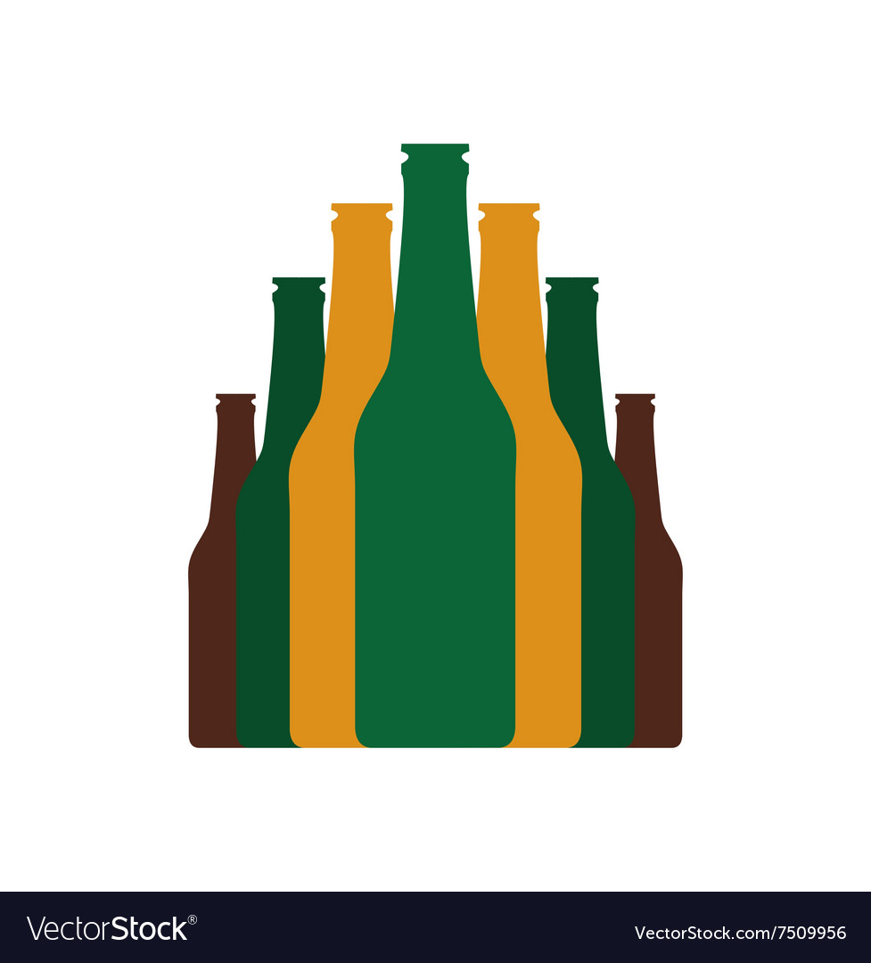 Bottles set flat icon