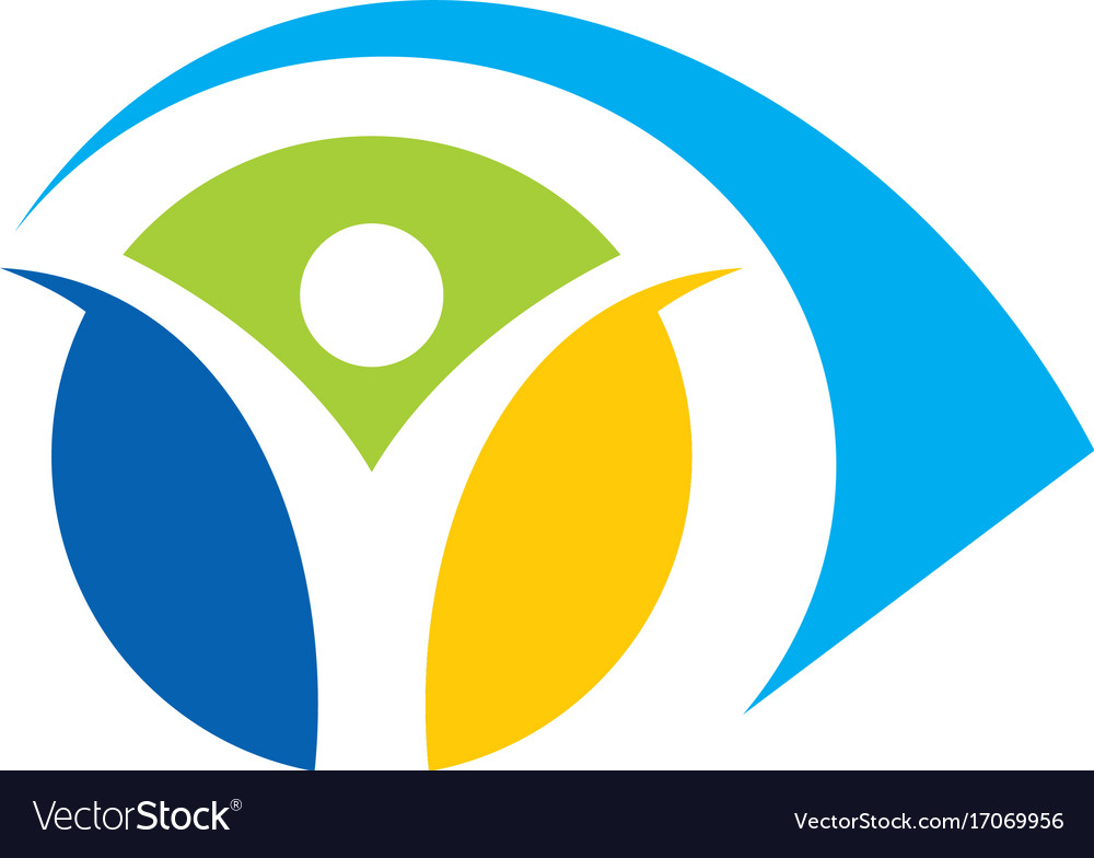 Eye people abstract colored logo