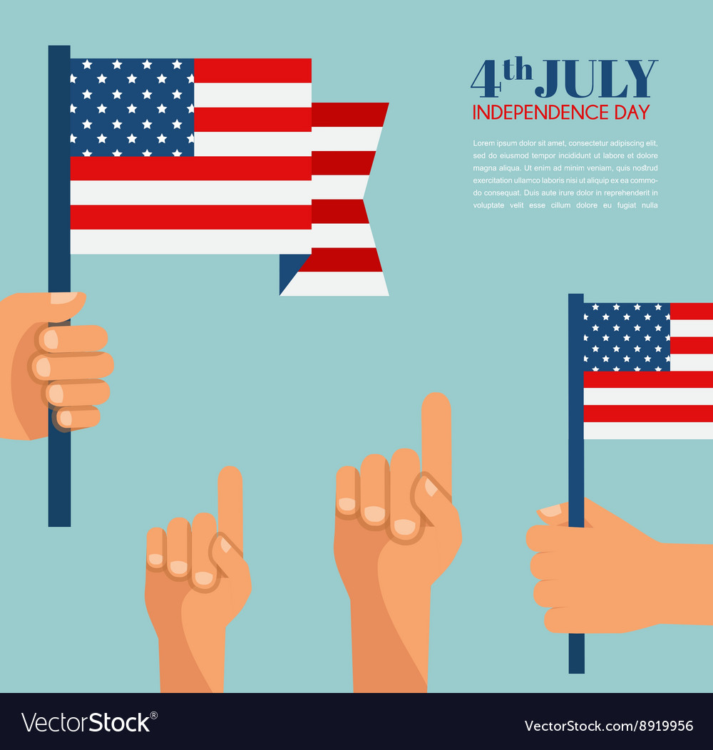 Hand holding the United States of America flag vector image