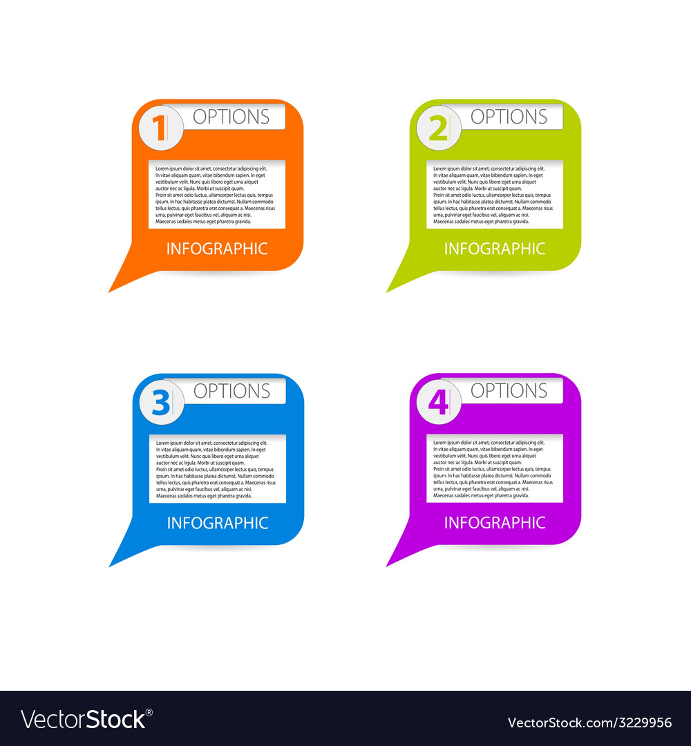 Infographic banner option vector image