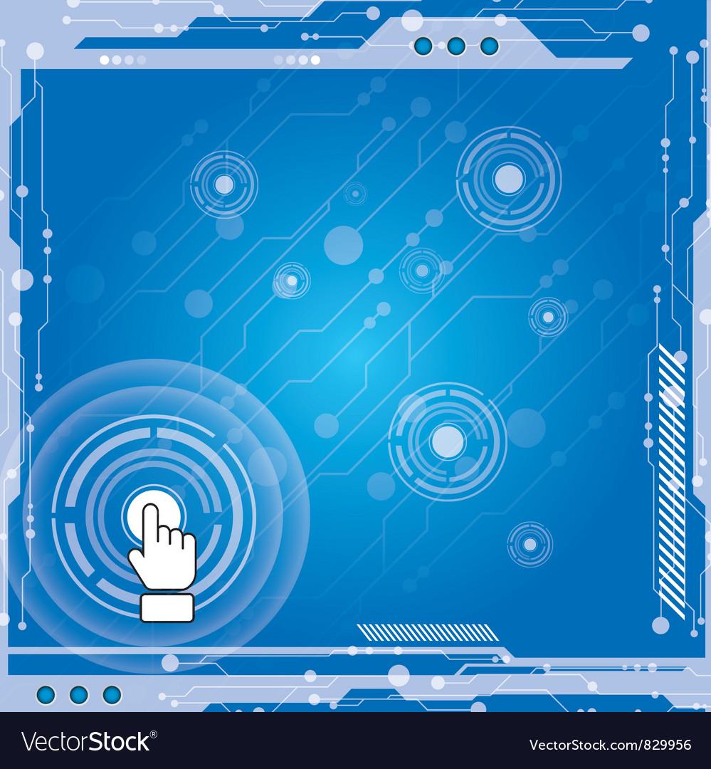 Interface modern technology vector image