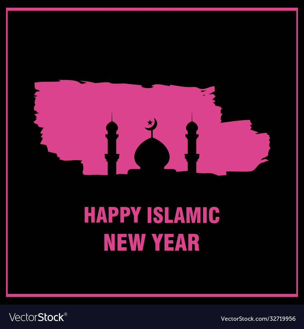 Mosque happy islamic new year background