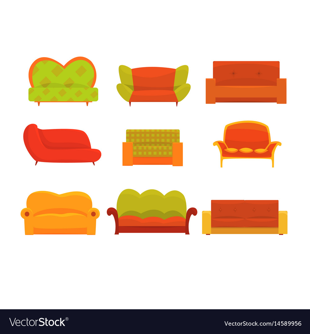 Sofas and armchairs interior elements