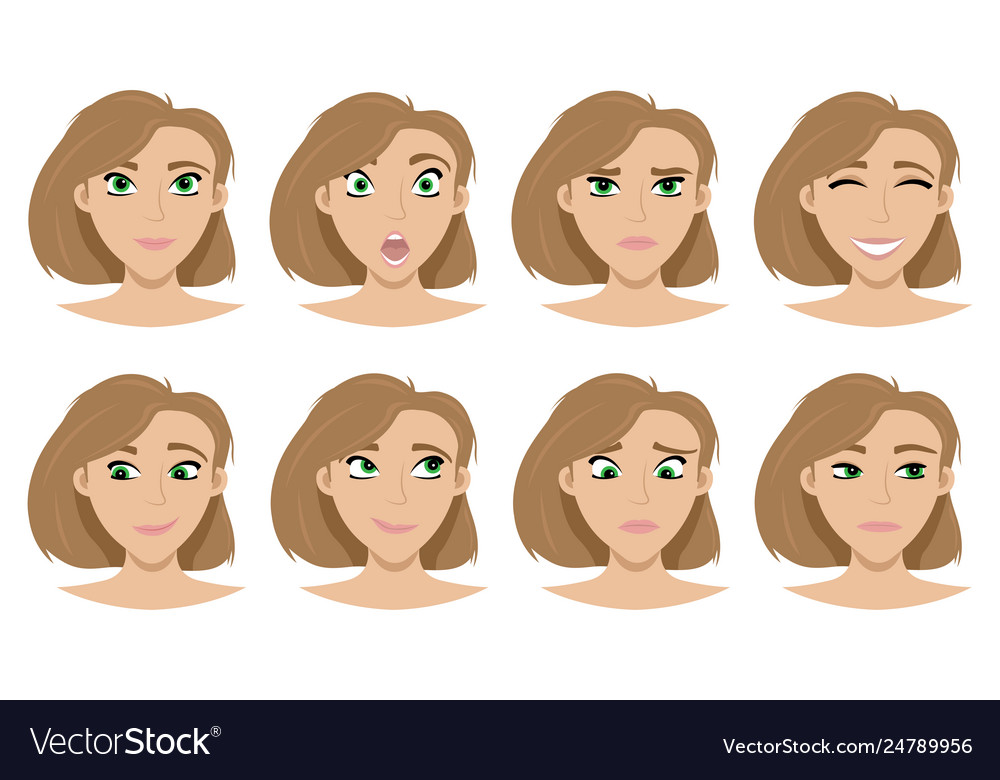 The set expressions on girls face
