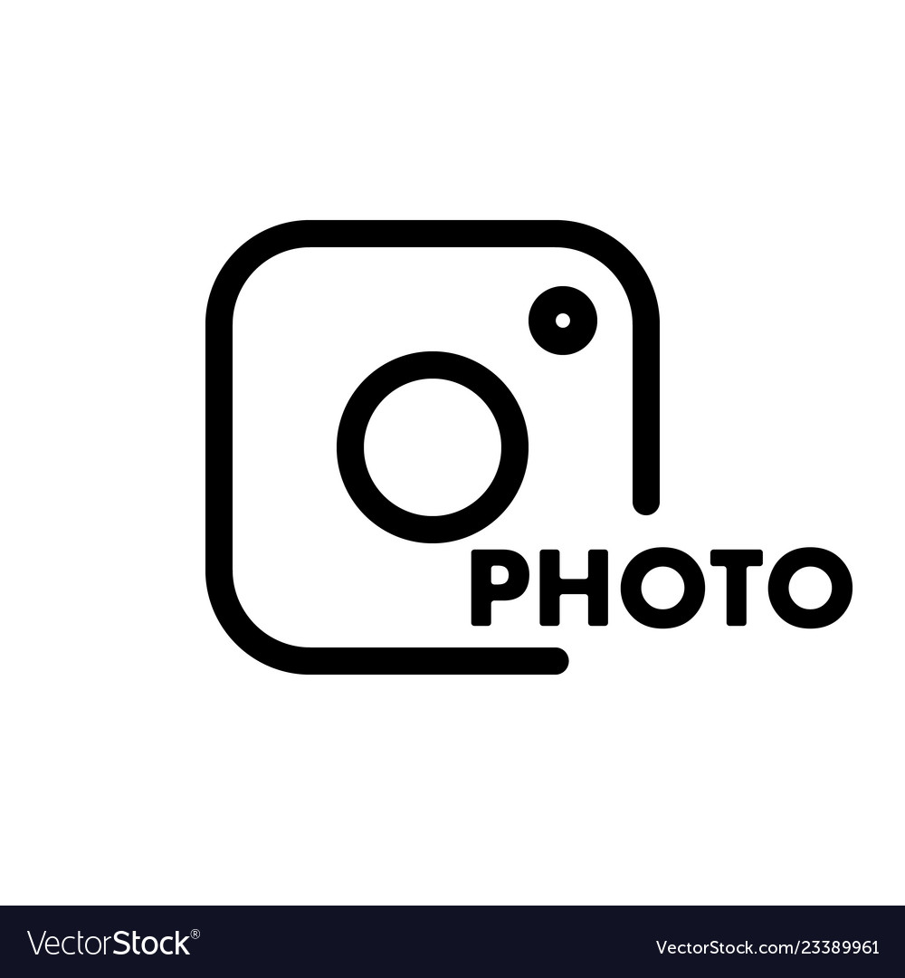 A simple camera icon with the caption