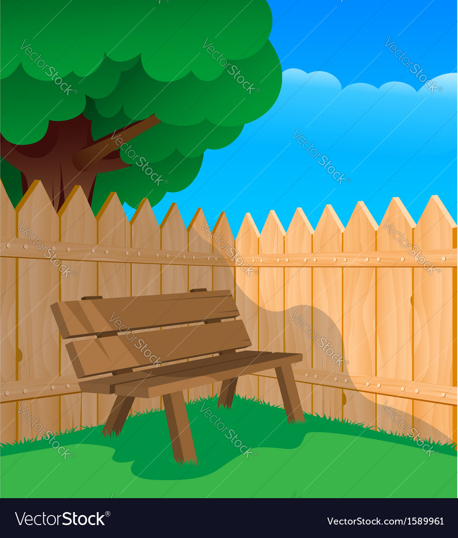 Bench and a fence