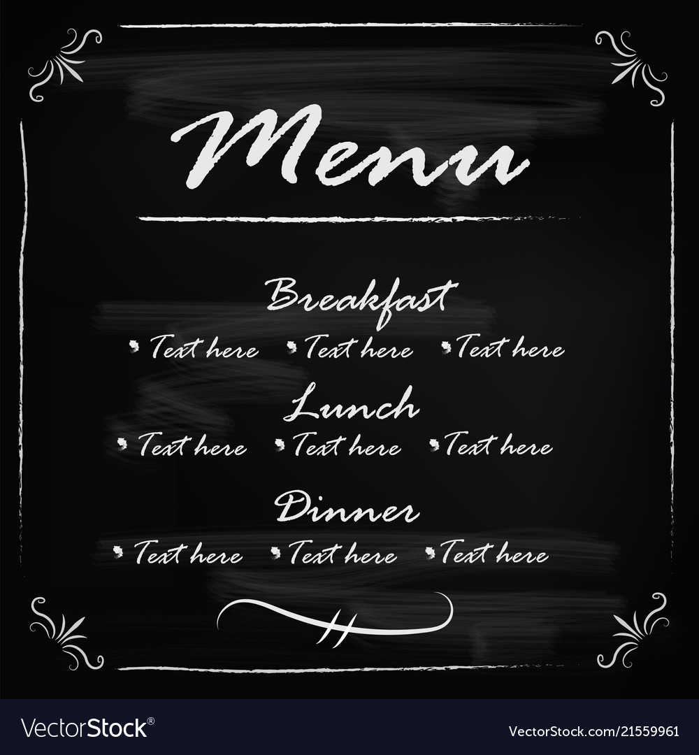 Blackboard frame template