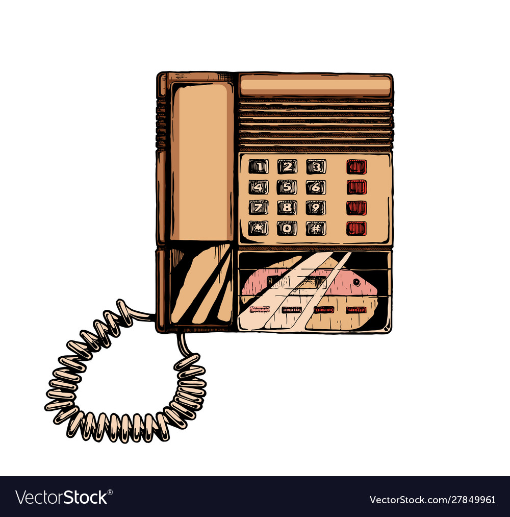 Push-button phone with answering machine