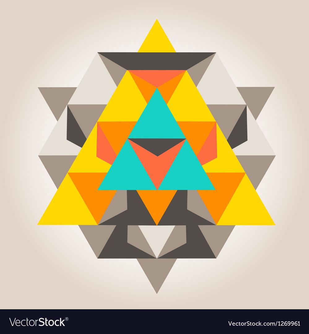 Unique geometrical design vector image