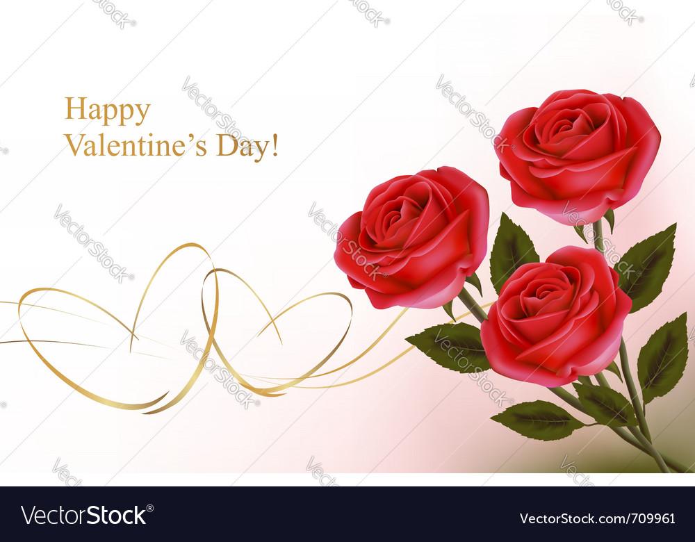 Valentine day background vector image