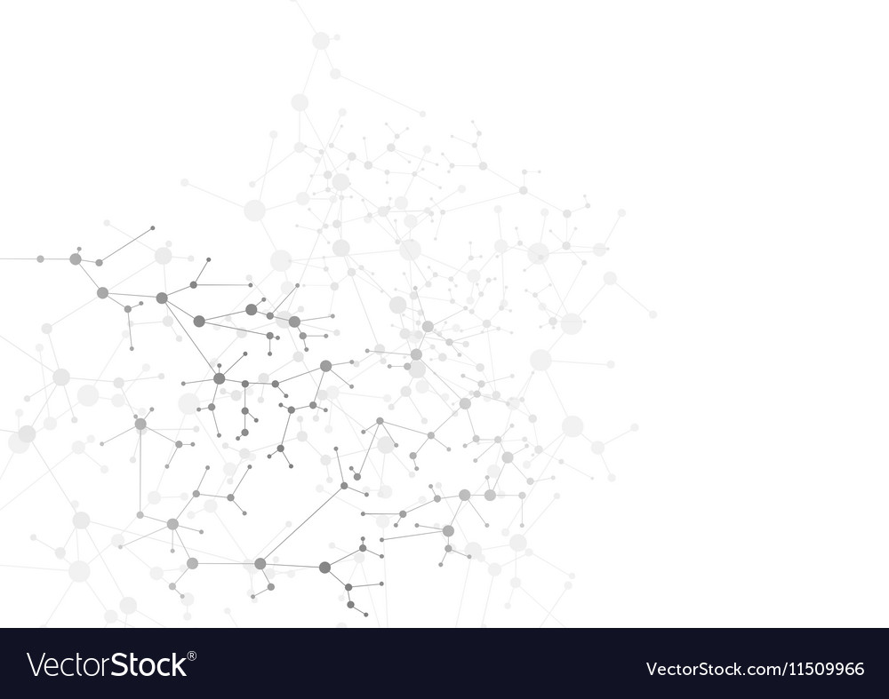 Abstract grey DNA molecular structure background vector image