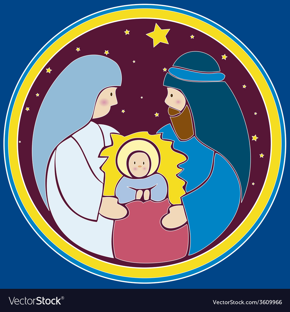 baby jesus in a manger royalty free vector image