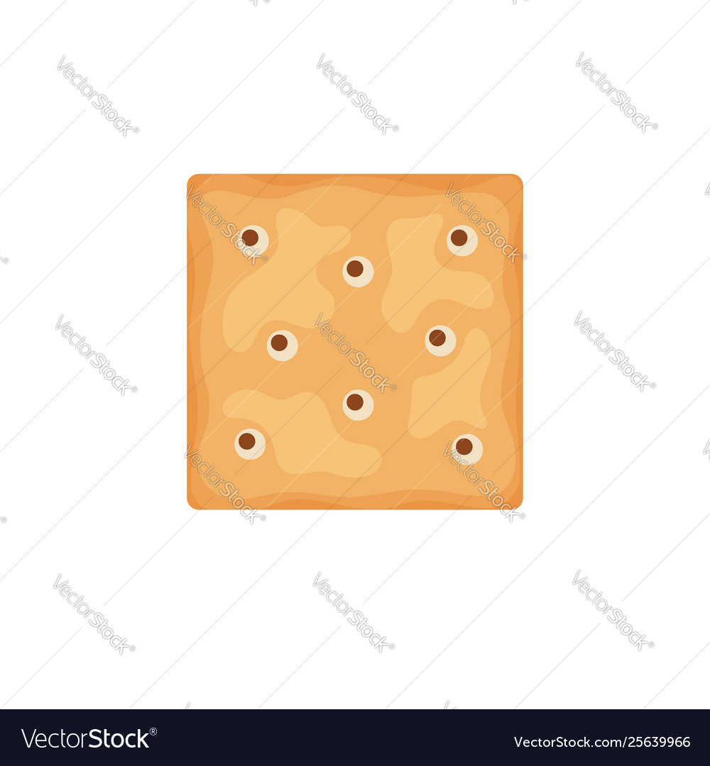 Cracker chips square shape isolated on white