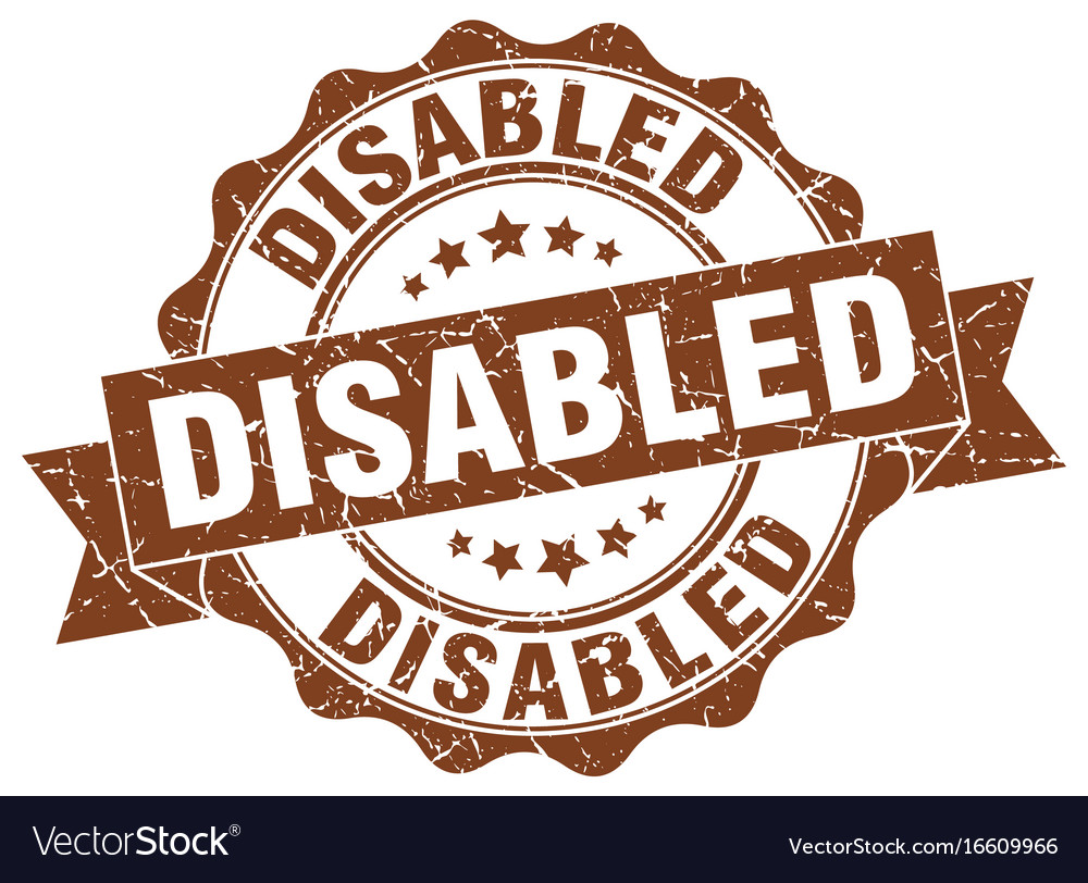 Disabled stamp sign seal vector image