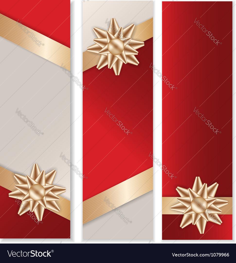 Golden Bow Banner Set